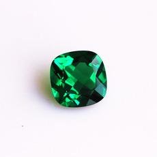 祖母绿宝石裸石戒指戒面肥正方形未镶嵌可加工男女款送礼物碧玺色