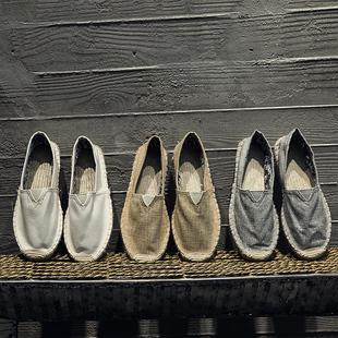 中国风唐装汉服民族服装青年棉麻鞋男士麻布中式亚麻鞋子夏季禅鞋