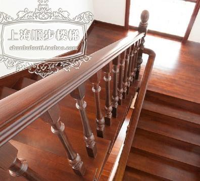 实木楼梯钢木旋转复式别墅玻璃中式踏步立柱定制厂家