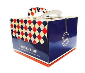 烘焙<span class=H>包装</span>6寸/8寸/10寸蛋糕盒 海军<span class=H>蓝色</span>格子 西点盒 送内托