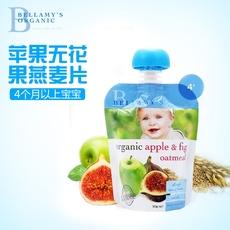现货澳洲代购Bellamy's贝拉米有机燕麦无花果苹果泥婴儿辅食4个月