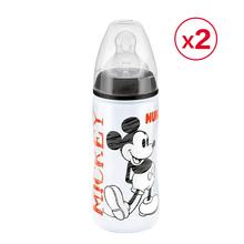 英国直邮NUK原装进口宽口径pp婴儿奶瓶300ML*2个黑色米老鼠系列
