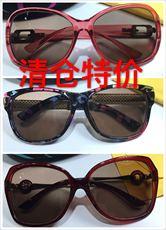 天然水晶眼镜女士太阳镜石头镜茶水晶墨镜女款特价处理