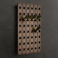 美式壁挂实木酒插 挂墙红酒架 创意葡萄酒架 酒窖酒吧酒架 包邮