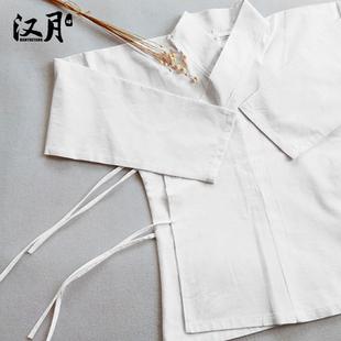 汉月坊古装汉服中衣中裤古代内衣棉麻白色民族服装古装中衣襦裙