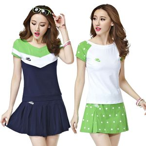 团购新品羽毛球服女套装羽毛球裙裤t恤运动套装学生网球裙套装女网球服