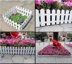 花园菜园白色塑料栅栏围栏花坛庭院幼儿园装饰护栏小篱笆插地围栏
