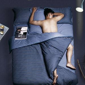 纯棉床上用品四件套全棉单人宿舍三件套1.8m床笠床单被子被套夏季三件套床单