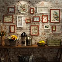 蘑菇堡现代风格照片墙 装饰家居实木组合相框 创意客厅照片墙挂饰