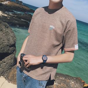 【2件装】夏季2017新款男士短袖t恤半袖韩版日系潮流学生个性男装大码男装