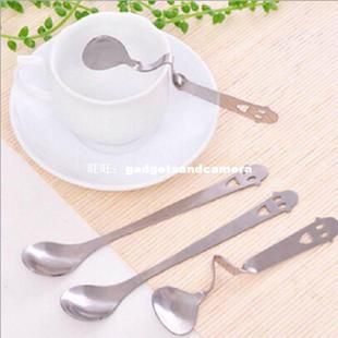 New Arrival 14cm Elegant Drink Tea Coffee Scoops Mixer Stain
