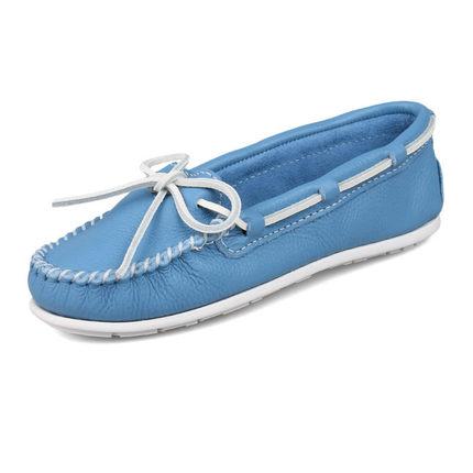 Minnetonka美国正品直邮女鞋 迷你唐卡蝴蝶结纯色真皮平底单鞋