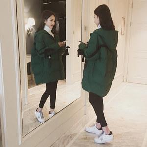 <span class=H>原宿</span>学生面包服女中长款冬季2017新款宽松加厚羽绒棉衣棉袄外套潮