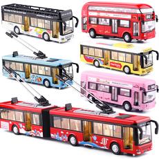 天鹰大号合金语音双节警车大巴加长公交伦敦巴士双层汽车模型玩具
