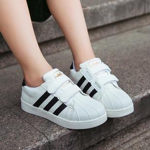男童小白鞋秋冬季2017新款韩版潮儿童运动鞋女加绒学生贝壳头板鞋