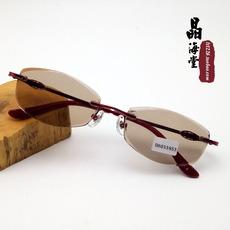 高档天然水晶石眼镜 女款 石头镜正品时尚潮流中老年护目镜墨镜