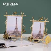 饰礼物家居摆件 6寸7寸金色蝴蝶相框摆台创意艺术轻奢欧式样板房装