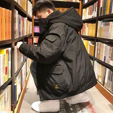 唐狮羽绒服男短款2018冬季新款韩版潮流帅气加厚学生连帽工装外套