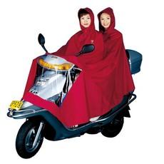 包邮 五羊双人头WY-105电动车摩托车时尚成人骑行雨衣