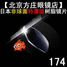 Japan imported ultra-thin anti radiation UV400 resin glasses 1741.74 aspheric / film.