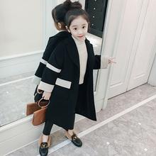 女童呢子大衣2018新款韩版儿童中长款春季毛呢小女孩春秋洋气外套