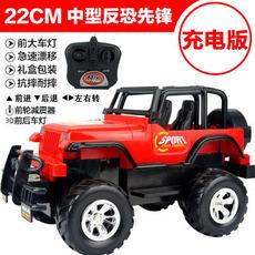 超大灯光遥控车越野车耐摔充电遥控汽车赛车模型玩具