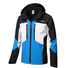鲨鱼皮软壳冲锋衣男士冬季三合一加绒加厚保暖大码登山服衣裤套装