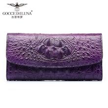 三折长款 GD泰国鳄鱼皮钱包真皮正品 大容量多卡位女士手拿包皮夹