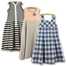 vintage古着孤品日本制复古秋冬洋装背心裙小清新文艺吊带连衣裙