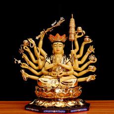 圆通佛具青铜鎏金准提菩萨准提佛母佛像寺庙佛堂供品佛教用品包邮
