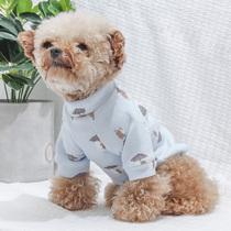 狗狗衣服牛奶绒卫衣泰迪秋冬两脚衣背带裤 比熊宠物小型犬猫咪服饰