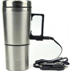 可烧开水的车载电热杯 车用热水器加热杯 100度车载热水杯 保温杯