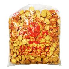 现货 3公分台湾小圆饼干3KG 正昌小奇福岩盐饼干做雪花酥原料