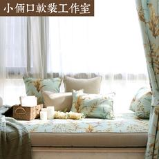 美式飘窗垫窗台垫子榻榻米垫子田园加厚高弹海绵简约沙发垫订做