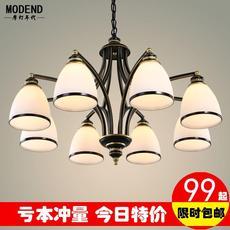 美式吊灯乡村铁艺复古灯简约客厅卧室餐厅书房田园灯欧式艺术吊灯