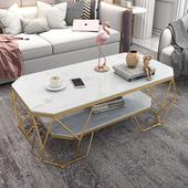 简约现代双层茶几客厅长方形钢化玻璃小户型时尚 个性 创意网红ins