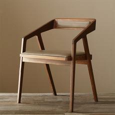 北欧美式复古实木餐椅 餐桌椅咖啡椅办公椅电脑椅铁艺木椅书椅子