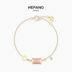 HEFANG Jewelry/何方<span class=H>珠宝</span>沉睡公主手链 纯银女简约清新细手环饰品