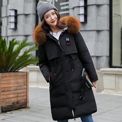 典趣棉服女大毛领两面穿中长款韩版宽松冬季新款棉袄加厚女装棉衣