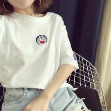 韩系新款短袖t恤女夏宽松百搭ulzzang学生ins超火的半袖chic上衣