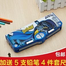 男女小学生多功能文具盒蝙蝠侠变形金刚蜘蛛侠自动王者荣耀铅笔盒
