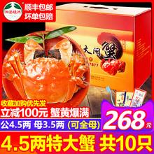 预售阳澄湖大闸蟹鲜活现货特大公4.5两全母螃蟹3.5两10只礼盒顺丰