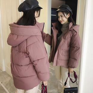 棉服女短款2018新款韩版bf加厚ins面包服学生小棉袄轻薄棉衣外套