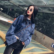 2017春秋新款牛仔外套女短款大码学生短外套长袖宽松显瘦百搭韩国