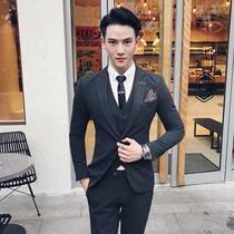 西服套装 西装 达驰男装 套装 男士 英伦修身 韩版 新郎结婚礼服三件套