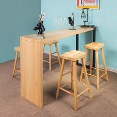 实木桌家用开放式厨房小餐桌餐厅简约休闲高脚桌子可定制吧台