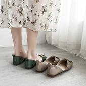 女软底 女2019夏新款 百搭网红平底懒人一脚蹬豆豆鞋 单鞋 仙女晚晚鞋