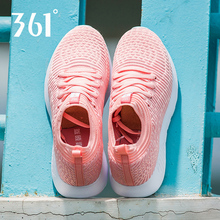 361 Sports Shoes Women's Shoes 2019 Summer New Breathable Mesh Running Shoes 361 Degree Real Pink Leisure Shoes Students