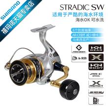 SHIMANO18款STRADIC SW纺车式渔线轮远投轮防海水鱼渔轮海钓船钓