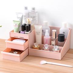 化妆品收纳盒桌面抽屉式箱子口红置物架塑料整理盒创意中号收纳箱